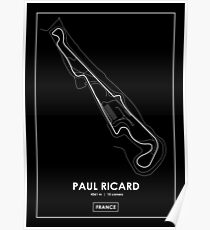 Paul Ricard - Frankreich Track Map White Poster