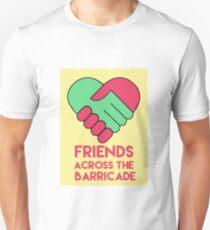 Friends Across the Barricade Slim Fit T-Shirt