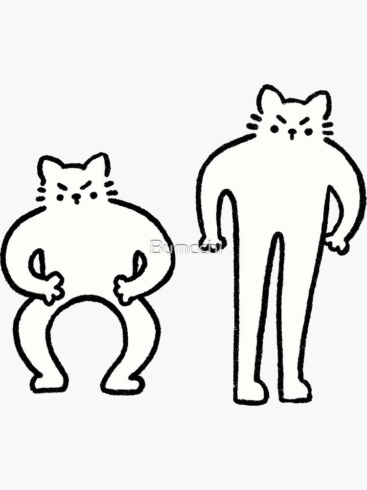 Flexing & Squating Cat by Bumcchi