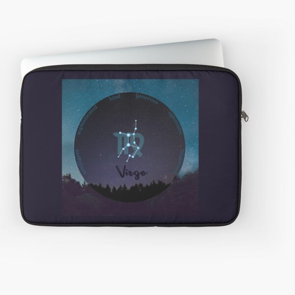 Virgo Zodiac Sign Character Traits Laptop Sleeve