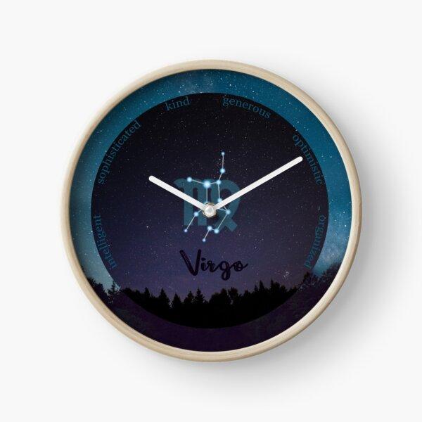 Virgo Zodiac Sign Character Traits Clock