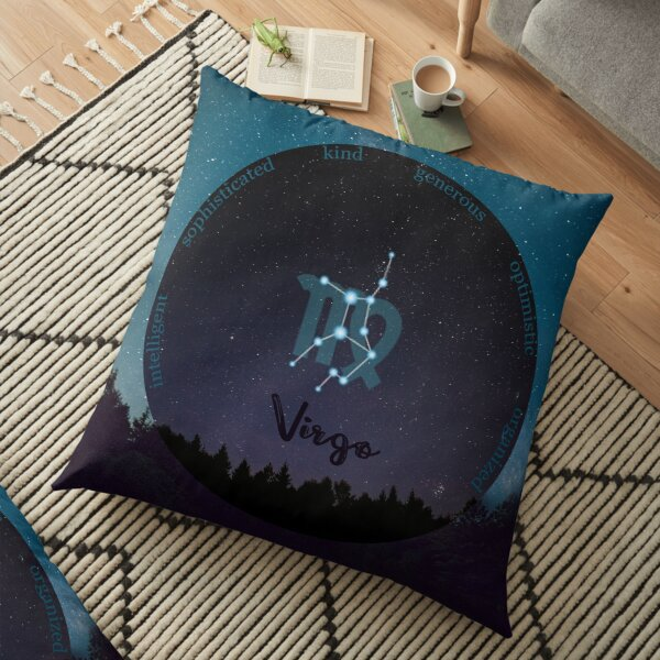 Virgo Zodiac Sign Character Traits Floor Pillow