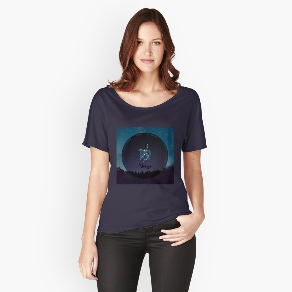 Virgo Zodiac Sign Character Traits Relaxed Fit T-Shirt