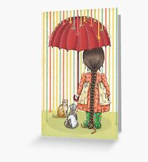 raining color Greeting Card