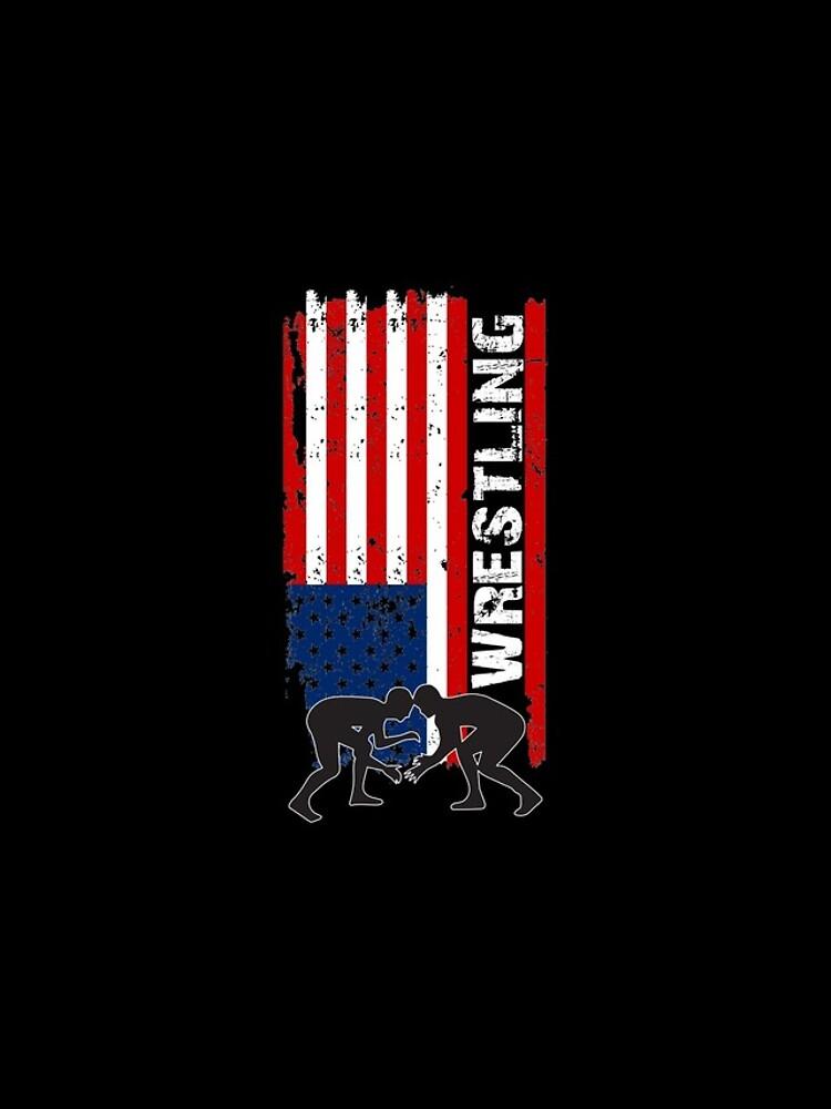 Camiseta de lucha de Amercian, camisa de lucha de la bandera de los EEUU, camiseta de lucha patriótica de Designs4Less