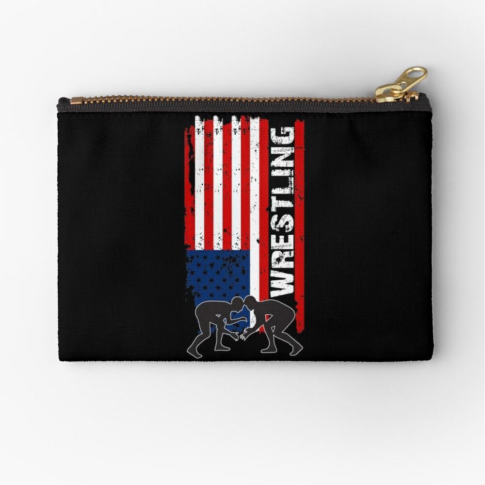 Camiseta de lucha de Amercian, camisa de lucha de la bandera de los EEUU, camiseta de lucha patriótica Bolsos de mano