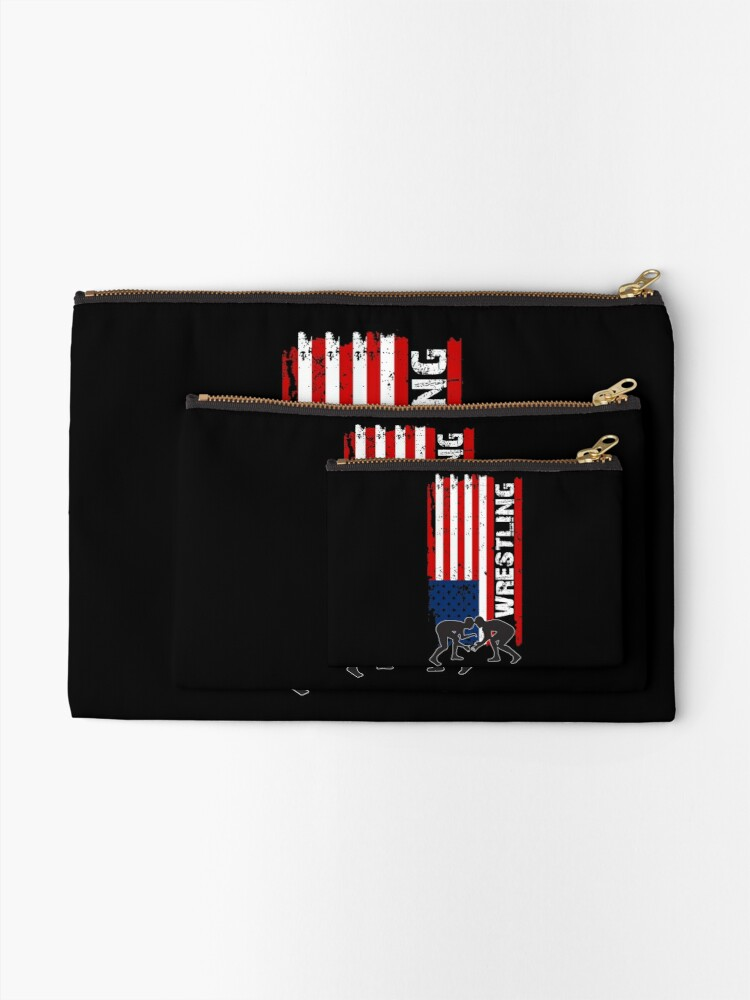 Vista alternativa de Bolsos de mano Camiseta de lucha de Amercian, camisa de lucha de la bandera de los EEUU, camiseta de lucha patriótica