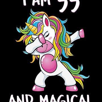 I Am 55 & Magical Unicorn Birthday Fifty Five Years Old Unicorn B Day  Dab Dance Squad Gift For Grandma Rainbow Myth Mythical fantasy Cartoon by bulletfast
