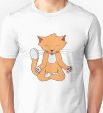 Katze Yoga Lustig Kätzchen Unisex T-Shirt