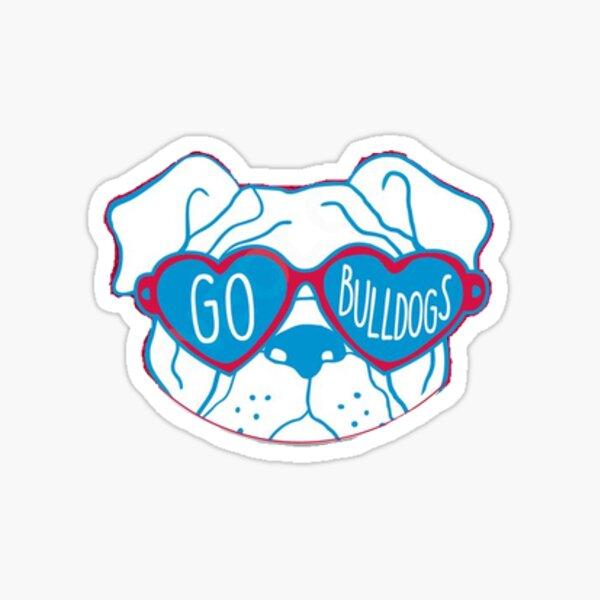 LA TECH bulldog head with sunglasses Sticker