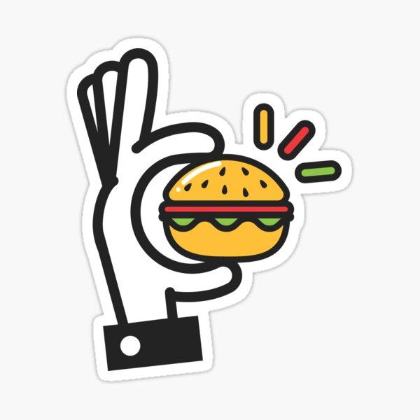 Hamburger Handled Sticker