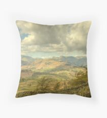 Black Crag Views Throw Pillow