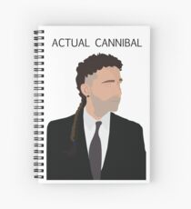 Actual Cannibal Spiral Notebook