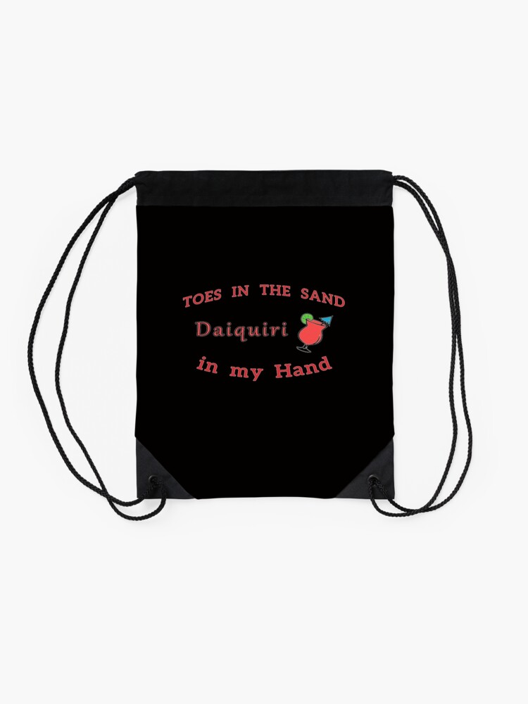 Alternate view of Strawberry Daiquiri Funny Frozen Alcohol Drink. Drawstring Bag