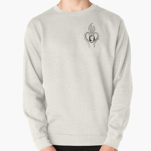 Sacred Heart Bunny Girl Angel drawing Pullover Sweatshirt