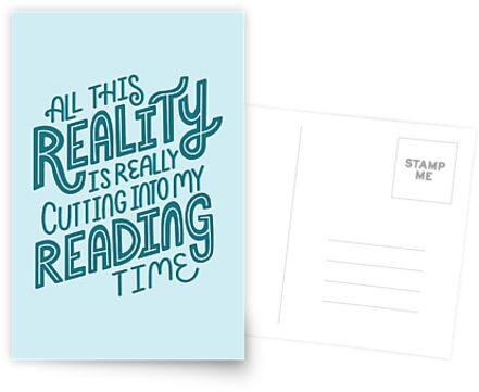 «Realidad Vs. Libro de lectura Nerd cita letras» de Kit Cronk