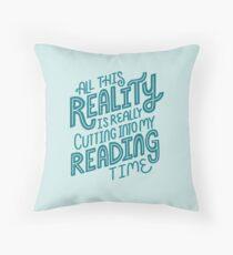 Realität vs. Lesebuch-Sonderling-Zitat-Beschriftung Sitzkissen
