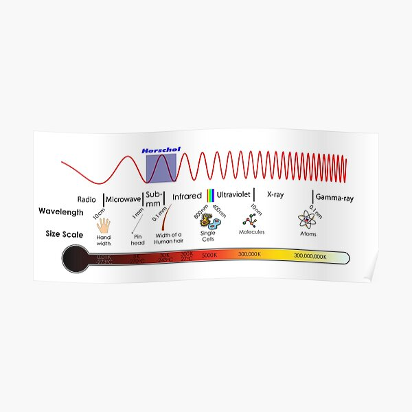 Electromagnetic Spectrum - Physics, Electromagnetism Poster