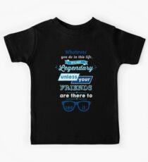 Legendary - Barney Stinson Quote (Blue) Kids Tee