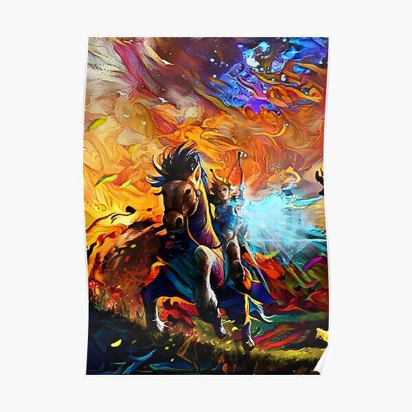 Cheval coloré Poster
