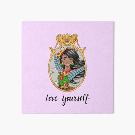 SOPHIE Love Yourself in Purple by Silvana Arias Art Board Print