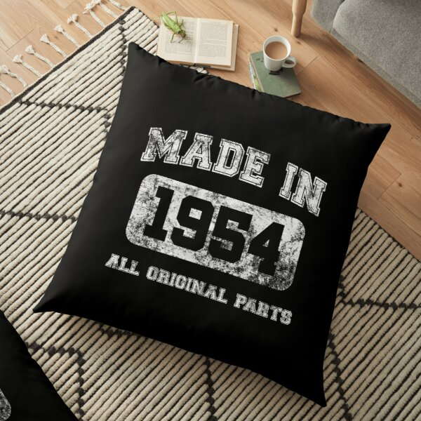 Made In 1954 All Original Parts Birthday Gift Idea Floor Pillow
