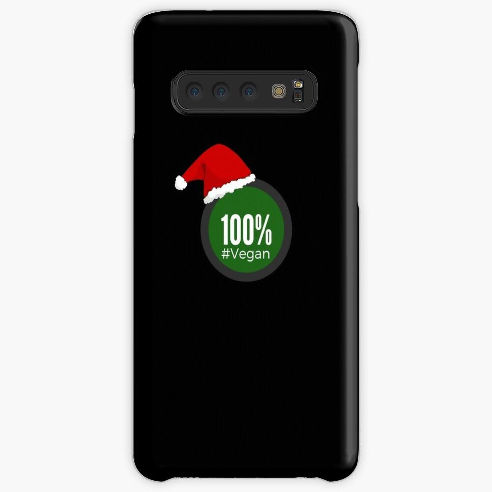 100% Vegan Christmas - Perfect Gift vegan Veganism Funda y vinilo para Samsung Galaxy