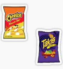 takis and hot cheetos Sticker