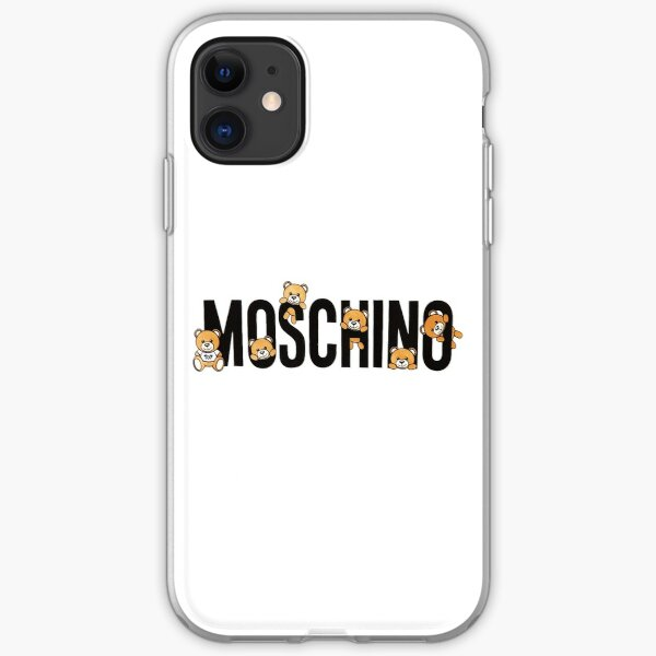 Cute Moschino Teddy Bear iPhone Soft Case