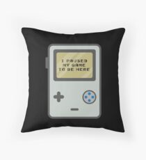I Paused My Game To Be Here - Perfect Gift Old School Gamer Classic Gamer Bodenkissen