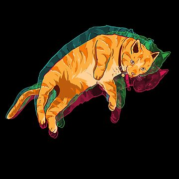Trippy Floating Cat Rave by japdua