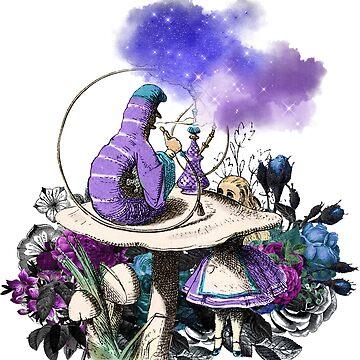 Catepillar Alice's Adventures in Wonderland  by 4Craig
