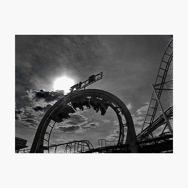 Rollercoaster love.... Photographic Print