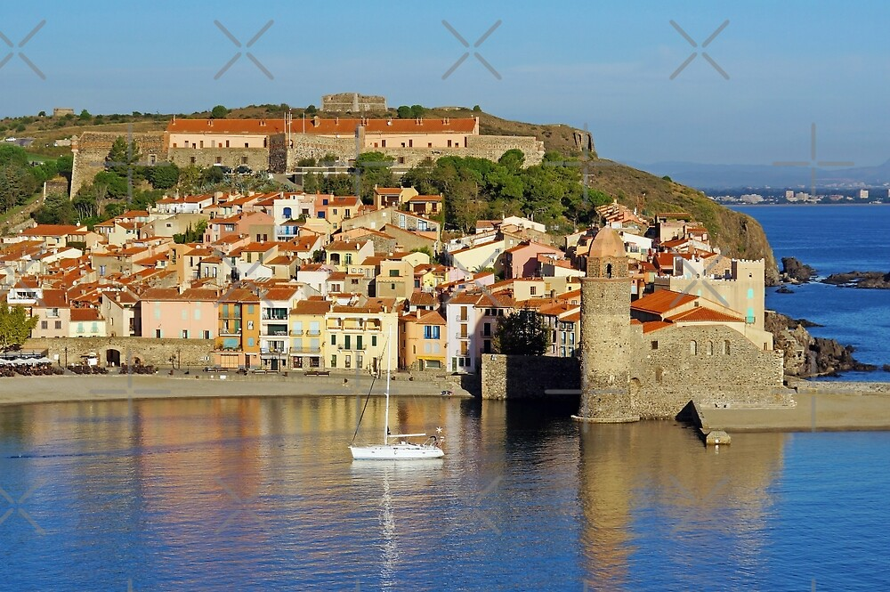 Coastal Mediterranean village of Collioure by Dam - www.seaphotoart.com