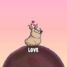 "A. J. Hogg ""LOVE"" Alternate color pouch by PigMan62"