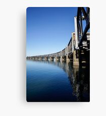 rail bridge Canvas Print