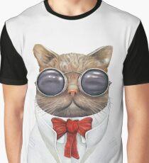 Astro Cat Grafik T-Shirt