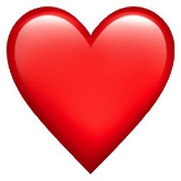 Roter Herz Emoji Aufkleber von isabellajm