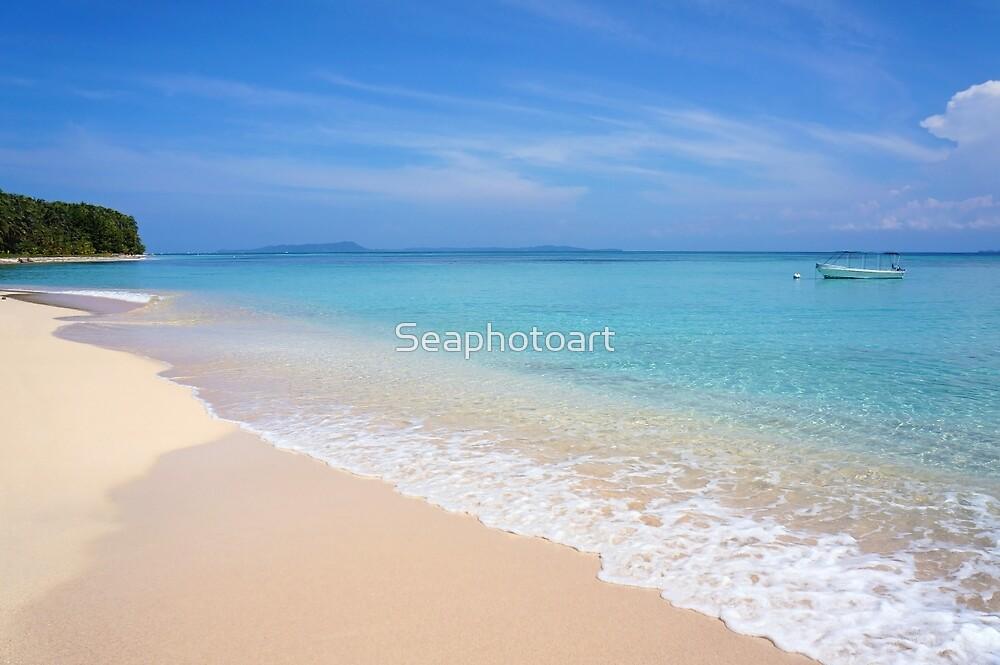 Tropical sandy beach by Dam - www.seaphotoart.com