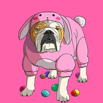 Happy Easter English Bulldog Bunny Costume by Nosek1ng