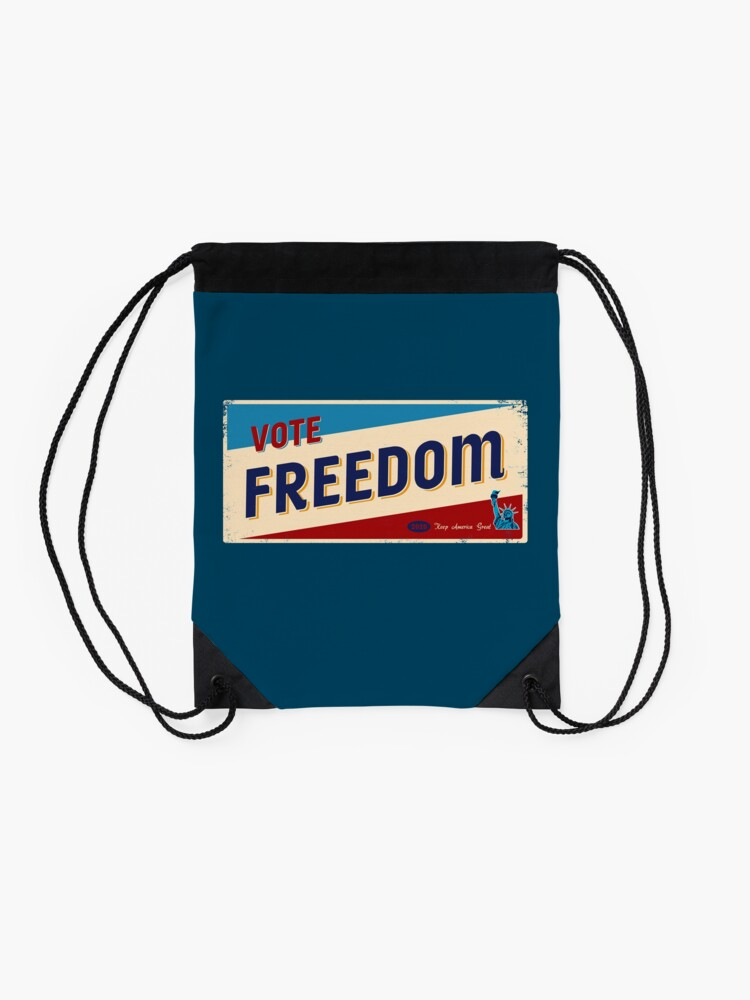 Alternate view of VOTE FREEDOM 2020 - Keep America Great Drawstring Bag