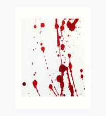 Blood Spatter Knife Cast Off Art Print