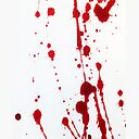 Blood Spatter Knife Cast Off Greeting Card By Jenbarker Redbubble