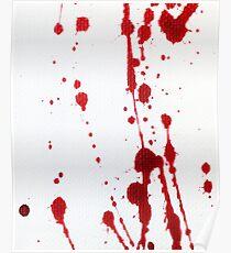 Blood Spatter Knife Cast Off Poster