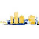 Milwaukee Polygonal Lakefront - Blue and Yellow by abowersock
