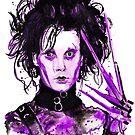 Scissorhands-Watercolor by Beau Singer