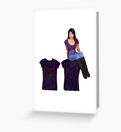 purple print and shoot Greeting Card