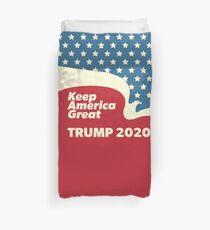 Keep America Great - Trump 2020 American Eagle Flying Duvet Cover