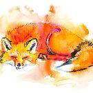 Fox-Watercolor by Beau Singer