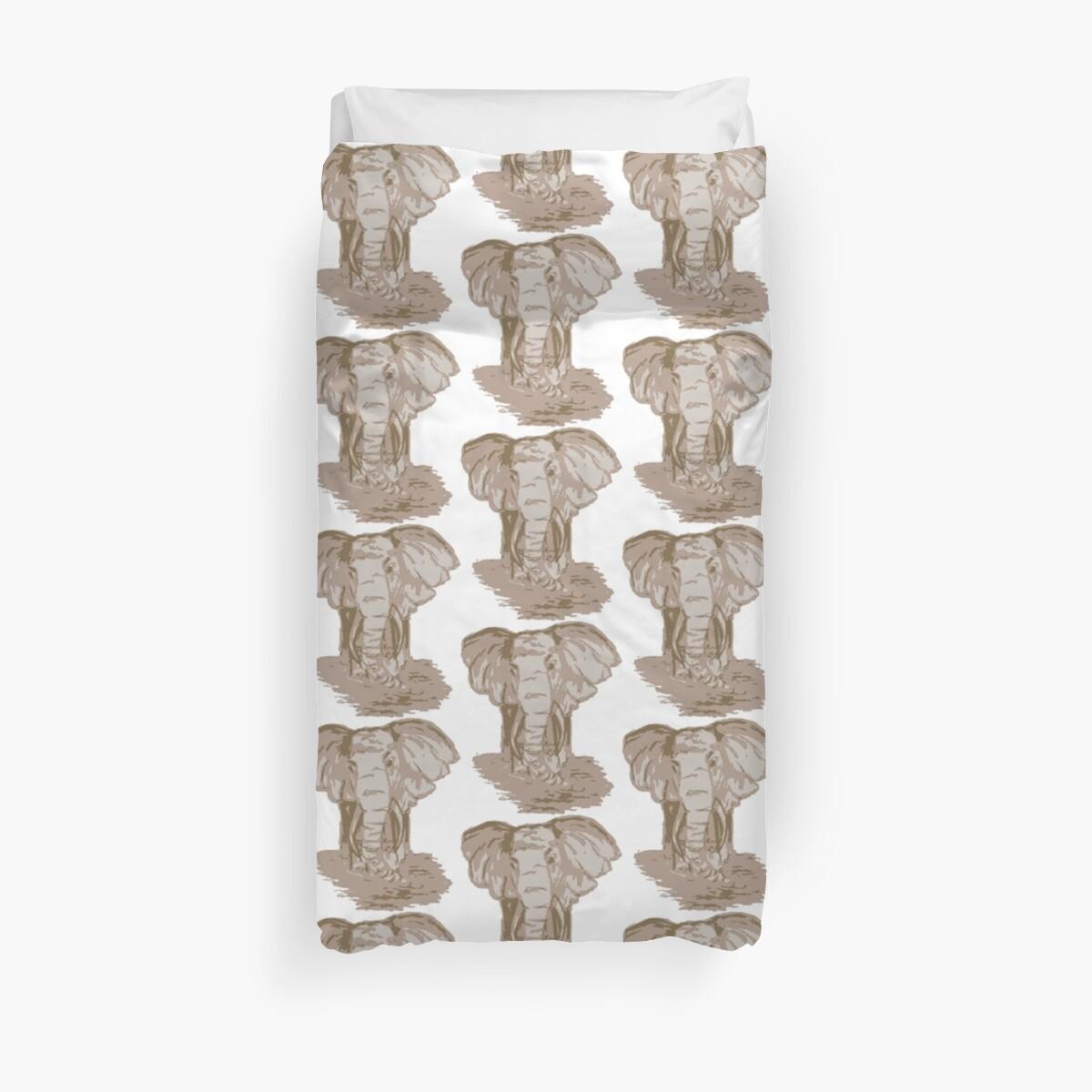 Sepia Elephant Repeated Pattern by easonb